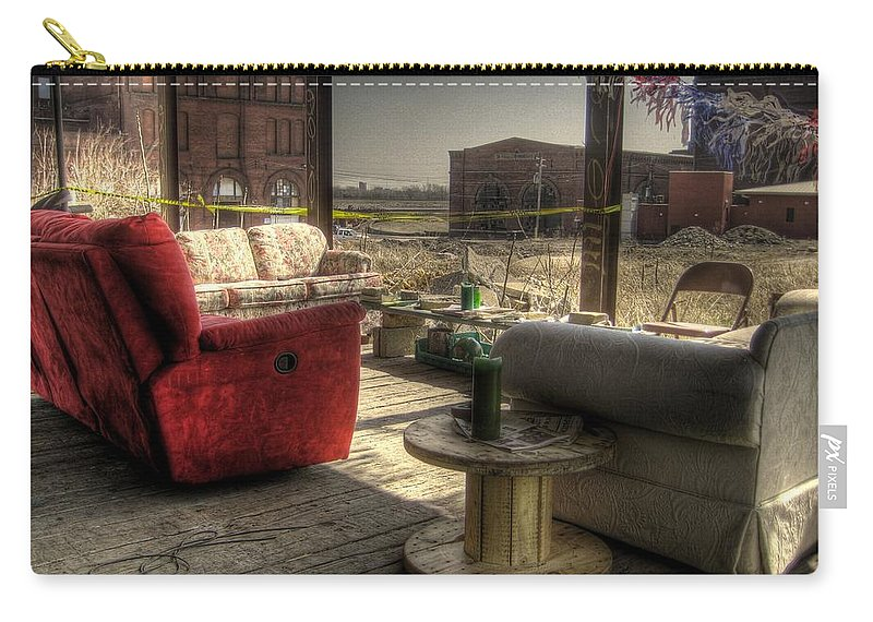 Hdr Carry-all Pouch featuring the photograph North St. Louis Porch by Jane Linders