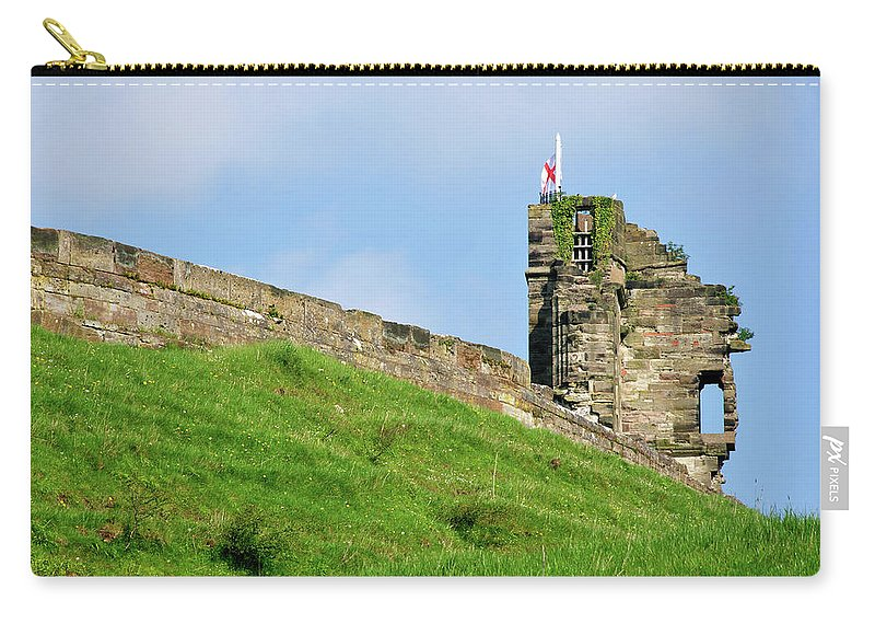 Bright Carry-all Pouch featuring the photograph North Tower- Tutbury Castle by Rod Johnson