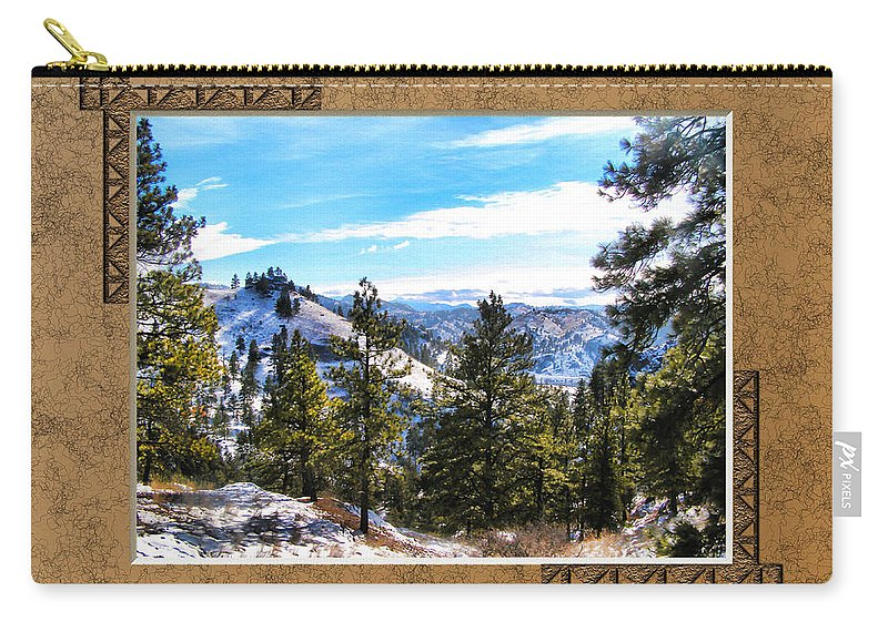 Mountains Carry-all Pouch featuring the photograph North View by Susan Kinney