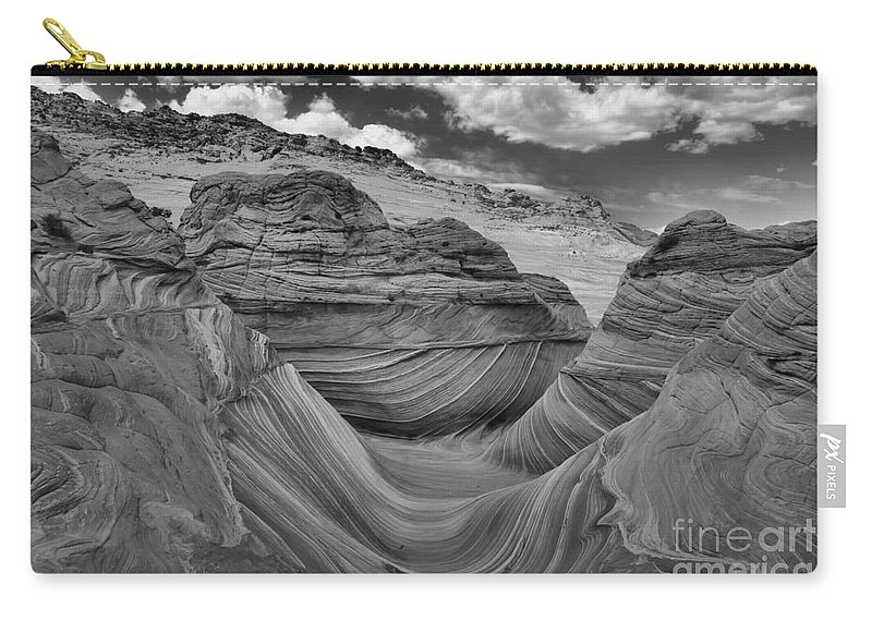 Coyote Buttes Carry-all Pouch featuring the photograph Northern Arizona Desert Swirls by Adam Jewell