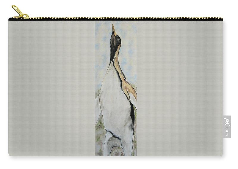 Penguin Carry-all Pouch featuring the drawing Northern Bliss by Cori Solomon