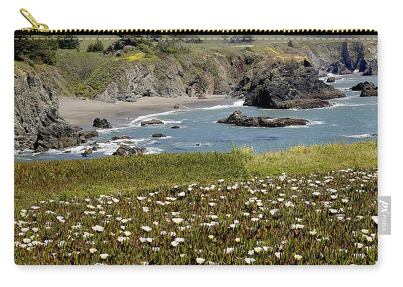 Highway 1 Carry-all Pouch featuring the photograph Northern California Coast Scene by Mick Anderson