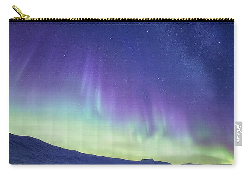 Northern Lights Carry-all Pouch featuring the photograph Northern Light by Tor-Ivar Naess