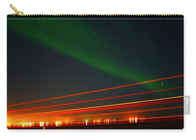 Northern Lights Carry-all Pouch featuring the photograph Northern Lights by Anthony Jones