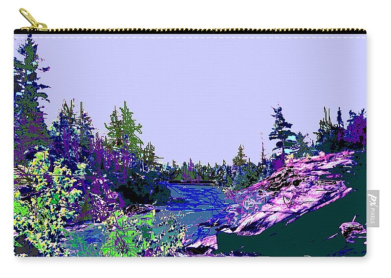 Norlthern Carry-all Pouch featuring the photograph Northern Ontario River by Ian MacDonald