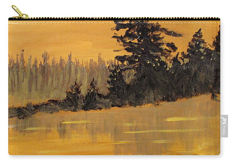 Northern Ontario Carry-all Pouch featuring the painting Northern Ontario Three by Ian MacDonald