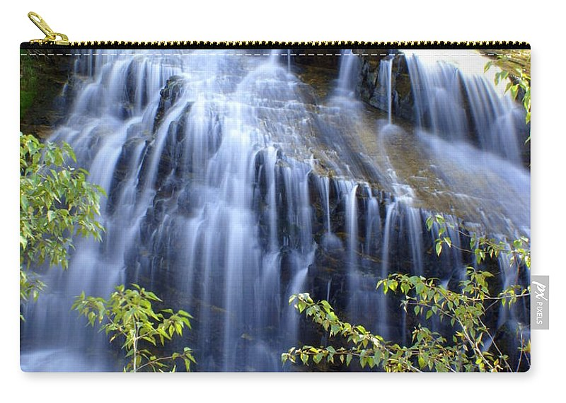 Waterfalls Carry-all Pouch featuring the photograph Northfork Falls by Marty Koch