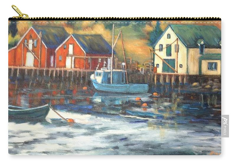 Water Carry-all Pouch featuring the painting Northwest Cove, Nova Scotia by Beverly Hubley
