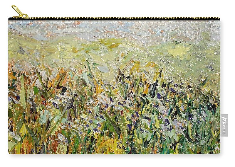Field Paintings Carry-all Pouch featuring the painting Nose Hill by Seon-Jeong Kim