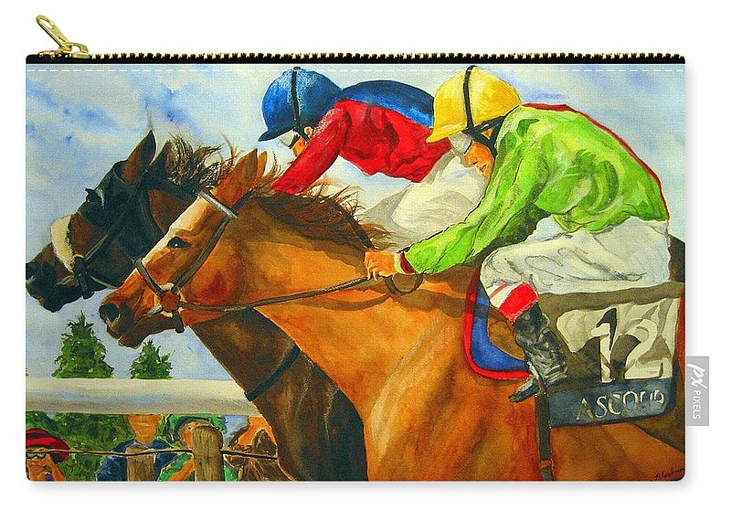 Horse Carry-all Pouch featuring the painting Nose to Nose by Jean Blackmer