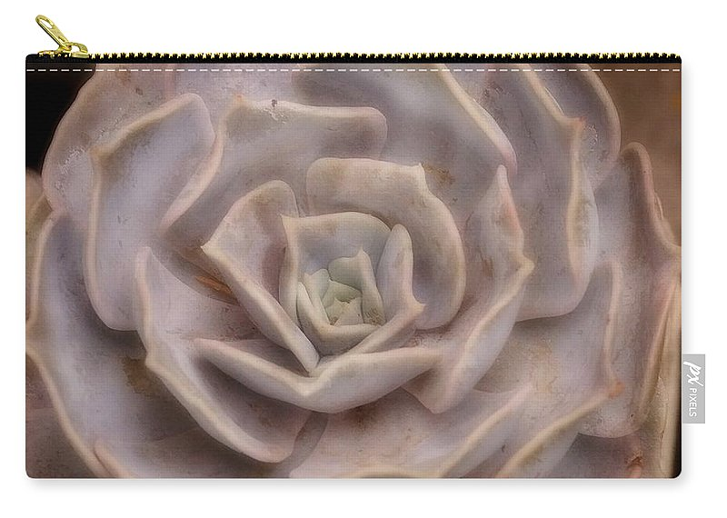Succulent Carry-all Pouch featuring the photograph Not A Rose by Tracey Vivar