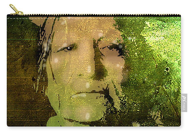 Native Americans Carry-all Pouch featuring the painting Not Afraid Of Pawnee by Paul Sachtleben