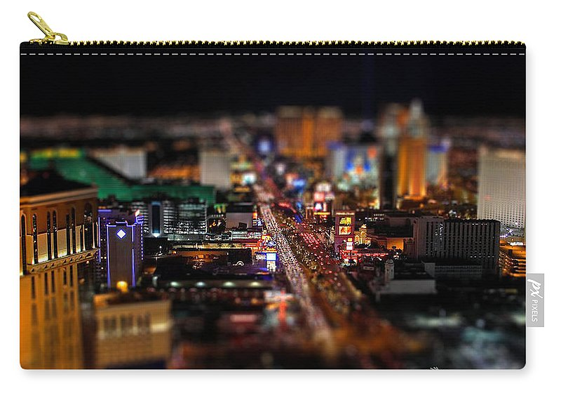 Las Vegas Carry-all Pouch featuring the photograph Not Everything Stays In Vegas - Tiltshift by Ericamaxine Price