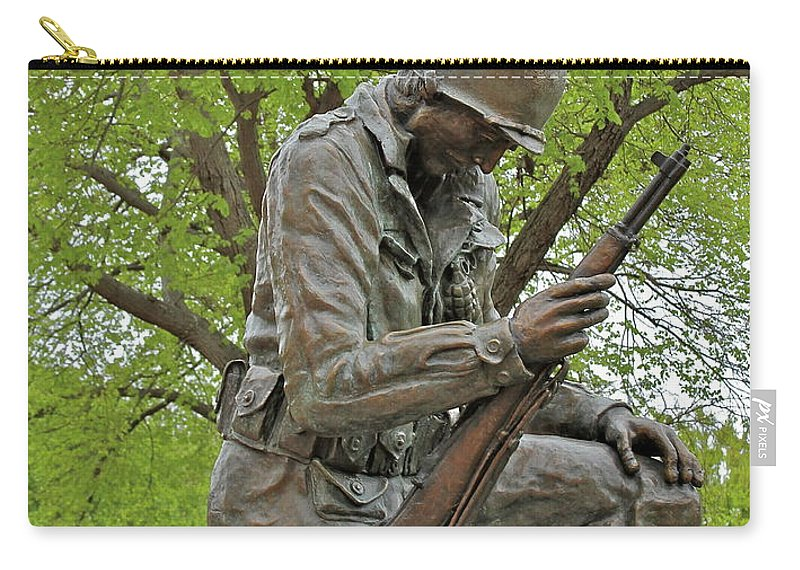 Statue Carry-all Pouch featuring the photograph Not Forgotten by Rick Monyahan