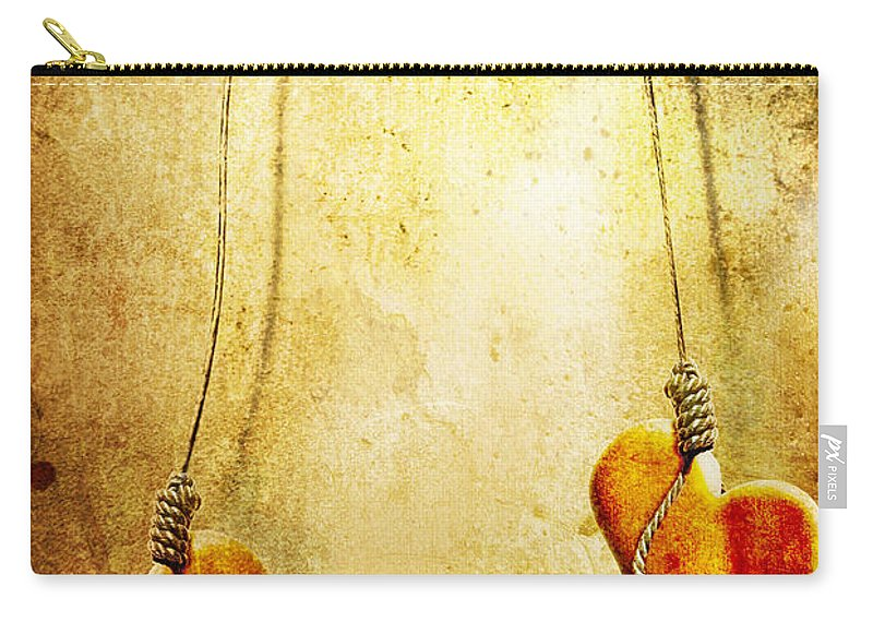 Puppeteer Carry-all Pouch featuring the painting Not Meant To Be... by Jacky Gerritsen