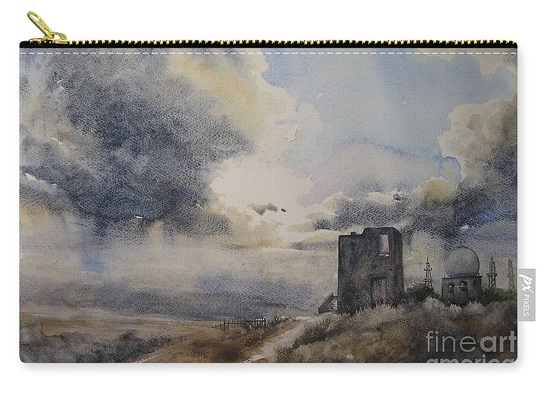 Scene Carry-all Pouch featuring the painting Nothern Storm by Diane Agius
