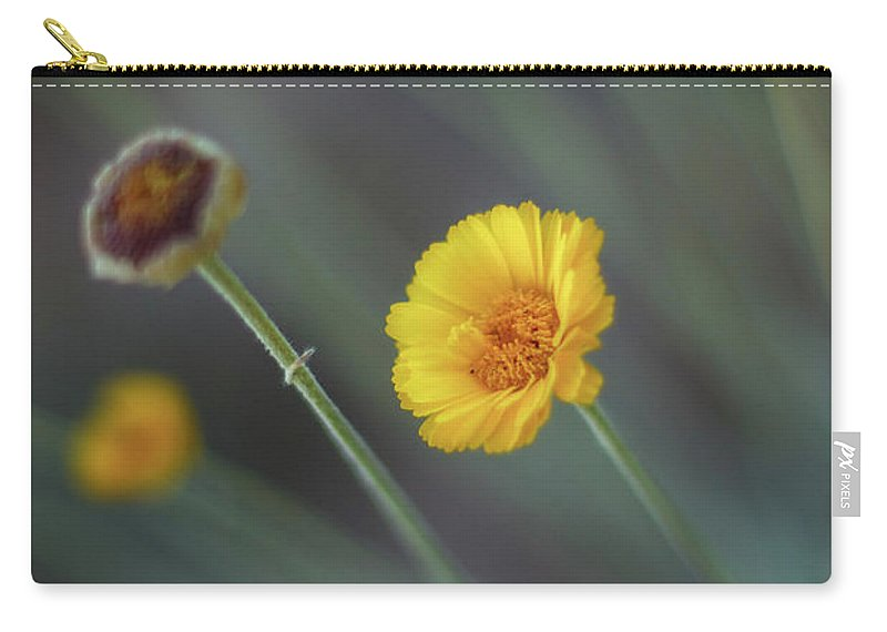 Yellow Carry-all Pouch featuring the photograph Nothing Gold Can Stay by Martina Schneeberg-Chrisien