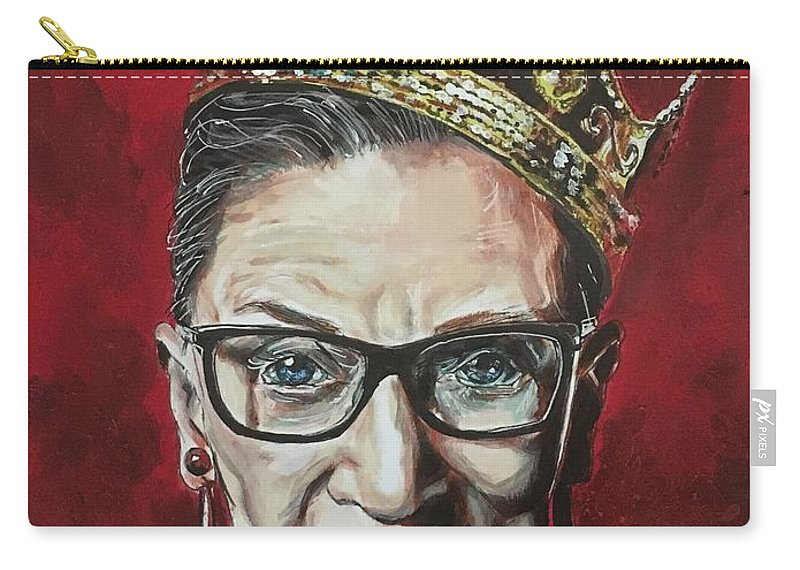 Ruth Bader Ginsburg Carry-all Pouch featuring the painting Notorious Rbg by Joel Tesch