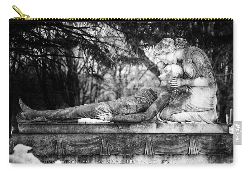 Cemetery Carry-all Pouch featuring the photograph Notre-dame-des-neiges Cemetery by David Hare
