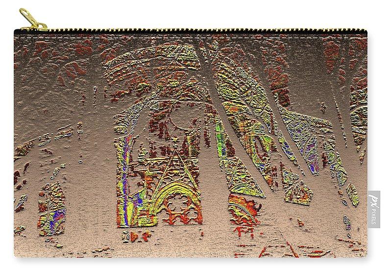 Notre Dame De Paris Carry-all Pouch featuring the digital art Notre Dame by Marc Dettloff
