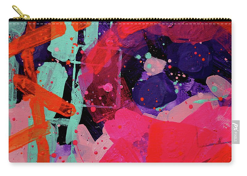 Abstract Carry-all Pouch featuring the painting Nova Abstract by John Nolan