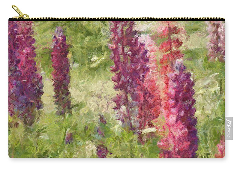 Nova Scotia Carry-all Pouch featuring the painting Nova Scotia Lupine Flowers by Jeffrey Kolker