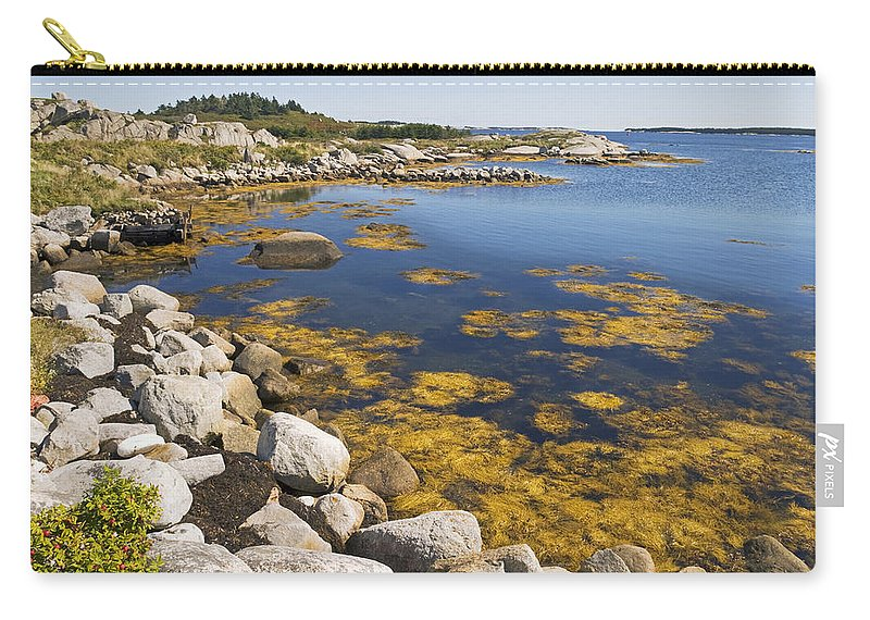 Seascape Carry-all Pouch featuring the photograph Nova Scotia Seascape by Pierre Logwin