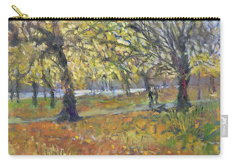 Garden Carry-all Pouch featuring the painting November In Hyde Park by Patricia Espir