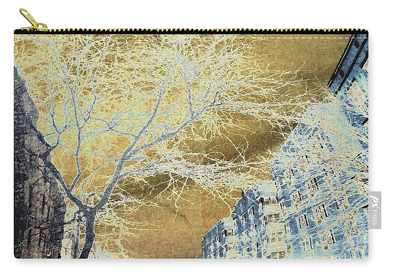 Buildings Carry-all Pouch featuring the photograph November In The Heights by Sarah Loft