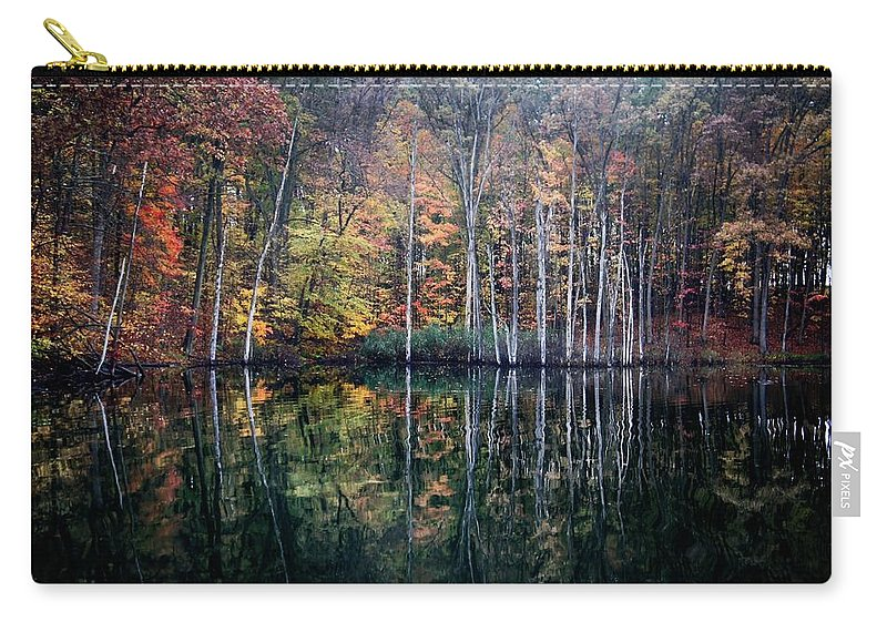 Fall Carry-all Pouch featuring the photograph November Ripples by Chris Fleming