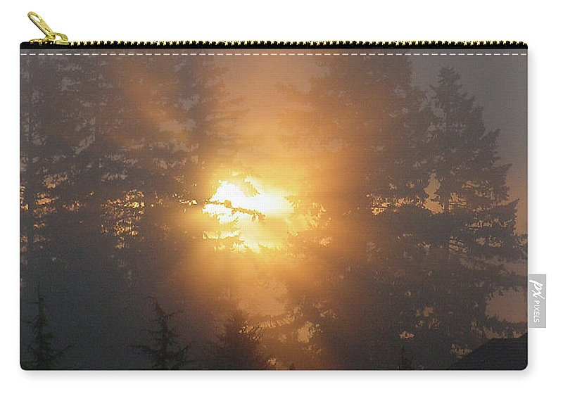 Sun Carry-all Pouch featuring the photograph November Sunrise - 1 by Shirley Heyn