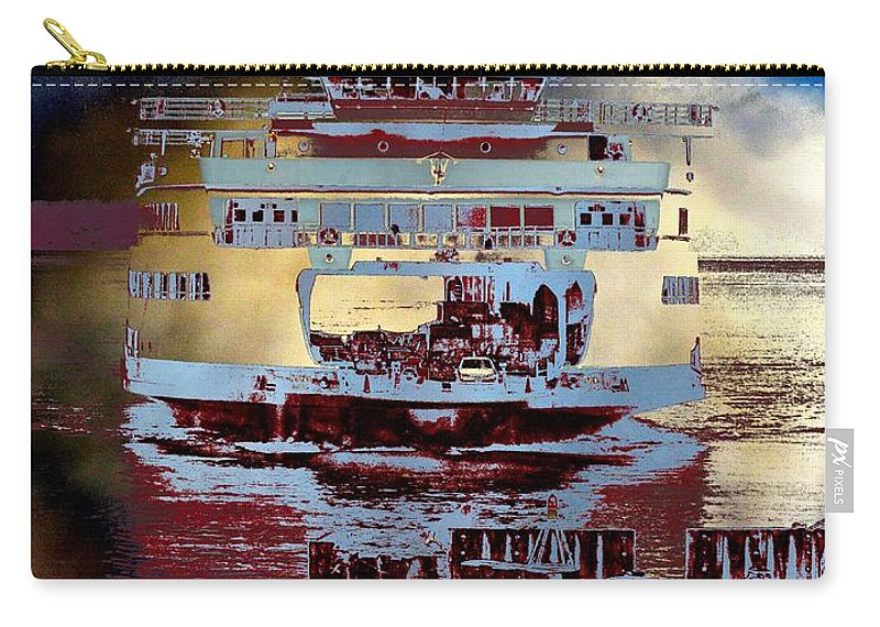 Seattle Carry-all Pouch featuring the photograph Now Arriving by Tim Allen