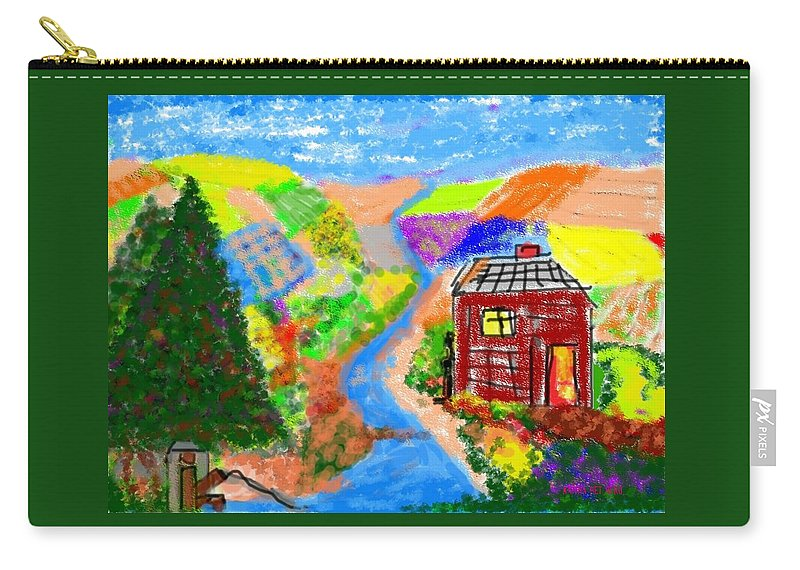 Kaitha Het Heru Carry-all Pouch featuring the drawing Now, Where Did He Disappear To? by Kaitha Het Heru