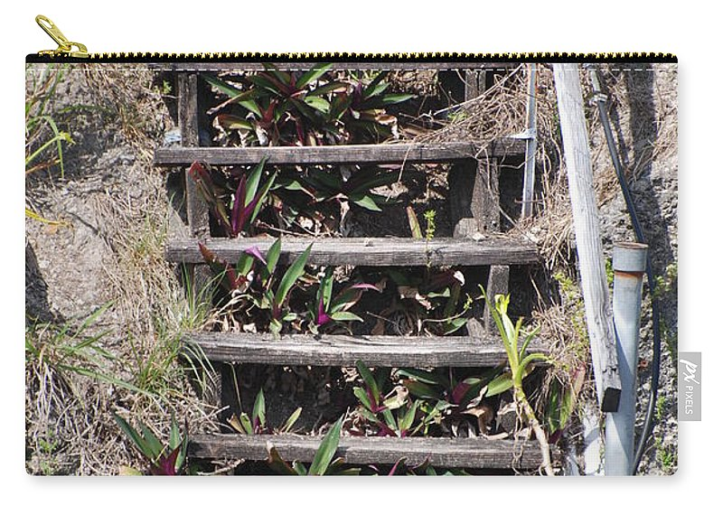 Stairs Carry-all Pouch featuring the photograph Nowhere Stairs by Rob Hans
