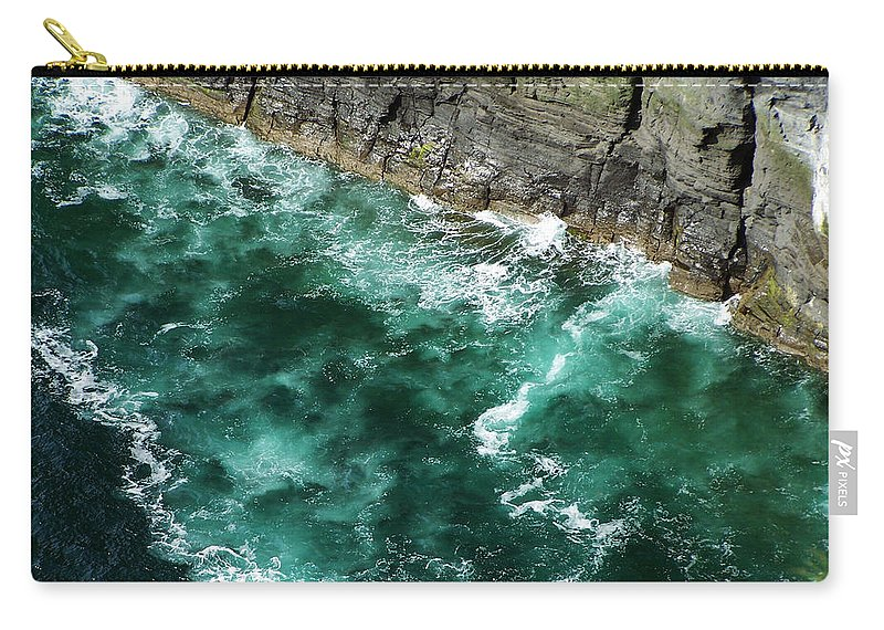 Irish Carry-all Pouch featuring the photograph Nowhere To Go Cliffs Of Moher Ireland by Teresa Mucha