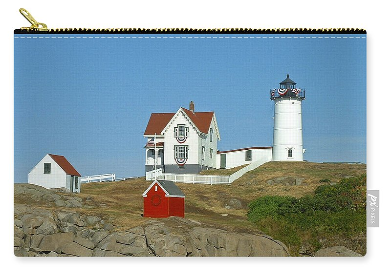 Nubble Carry-all Pouch featuring the photograph Nubble Light by Margie Wildblood