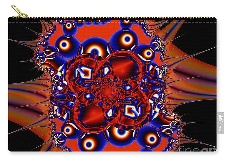 Atom Carry-all Pouch featuring the digital art Nucleus by Ron Bissett