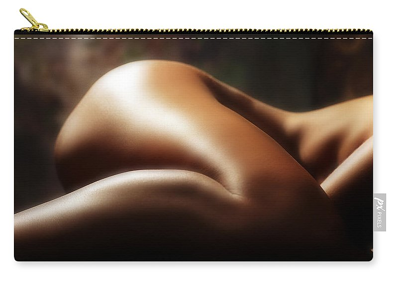 Nude Carry-all Pouch featuring the photograph Nude 1 by Anthony Jones