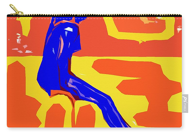 Abstract Carry-all Pouch featuring the painting Nude 16 by Patrick J Murphy