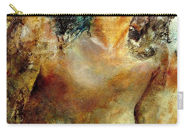 Girl Nude Carry-all Pouch featuring the painting Nude 34 by Pol Ledent