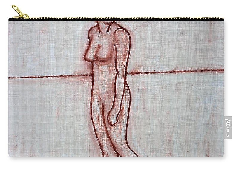 Nude Carry-all Pouch featuring the painting Nude 39 by Patrick J Murphy