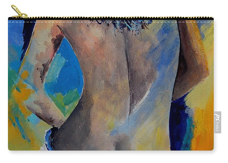 Nude Carry-all Pouch featuring the painting Nude 45901111 by Pol Ledent