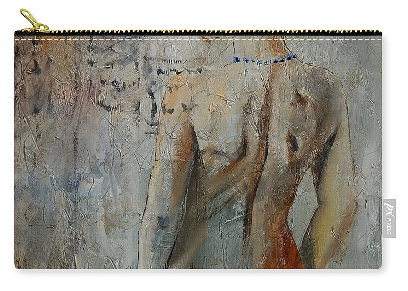 Girl Carry-all Pouch featuring the painting Nude 459020 by Pol Ledent