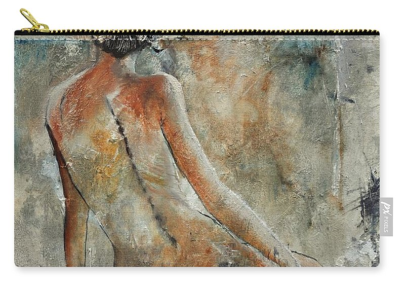 Nude Carry-all Pouch featuring the painting Nude 560121 by Pol Ledent