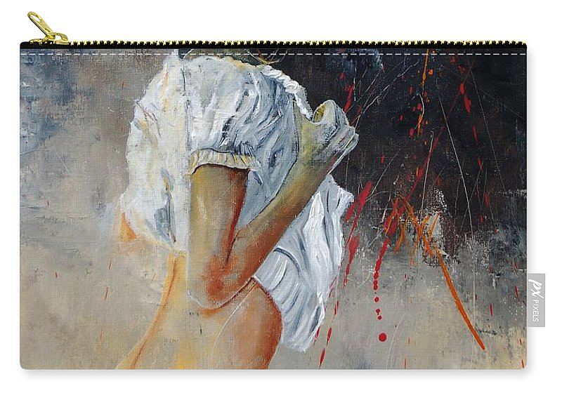 Nude Carry-all Pouch featuring the painting Nude 560508 by Pol Ledent