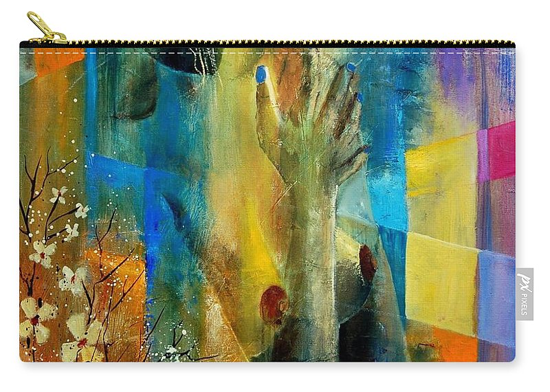 Nude Carry-all Pouch featuring the painting Nude 5609082 by Pol Ledent