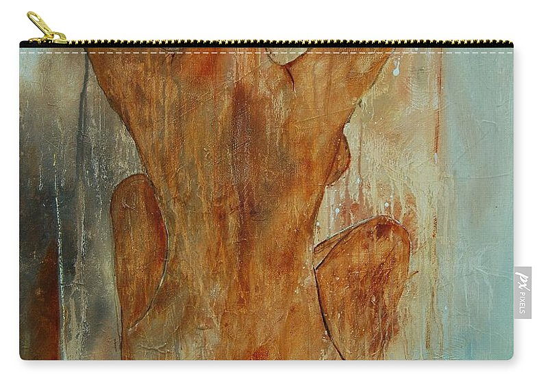 Nude Carry-all Pouch featuring the painting Nude 56901101 by Pol Ledent