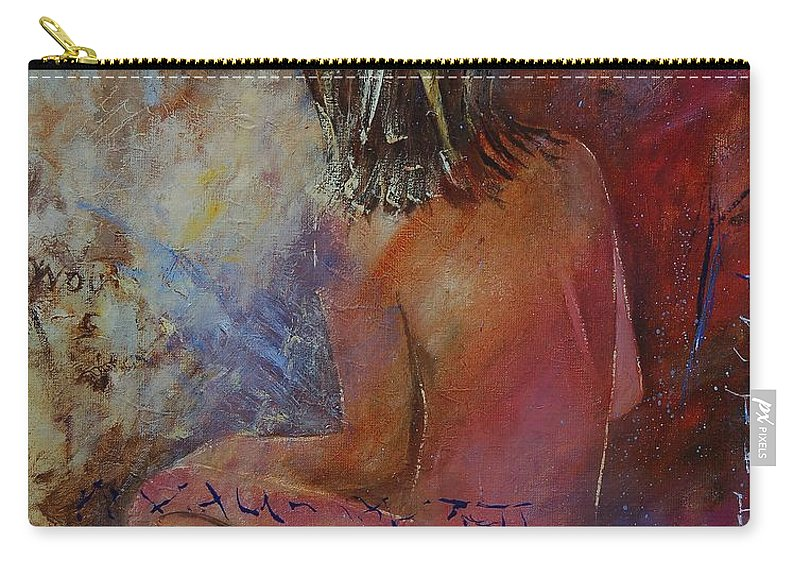 Nude Carry-all Pouch featuring the painting Nude 569090 by Pol Ledent