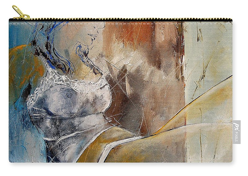 Nude Carry-all Pouch featuring the painting Nude 67524236 by Pol Ledent