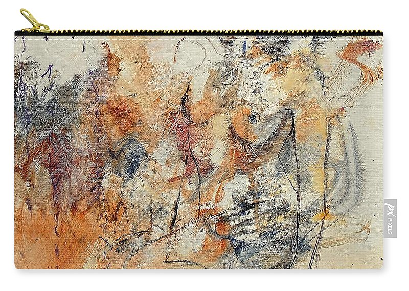 Girl Carry-all Pouch featuring the painting Nude 679070 by Pol Ledent